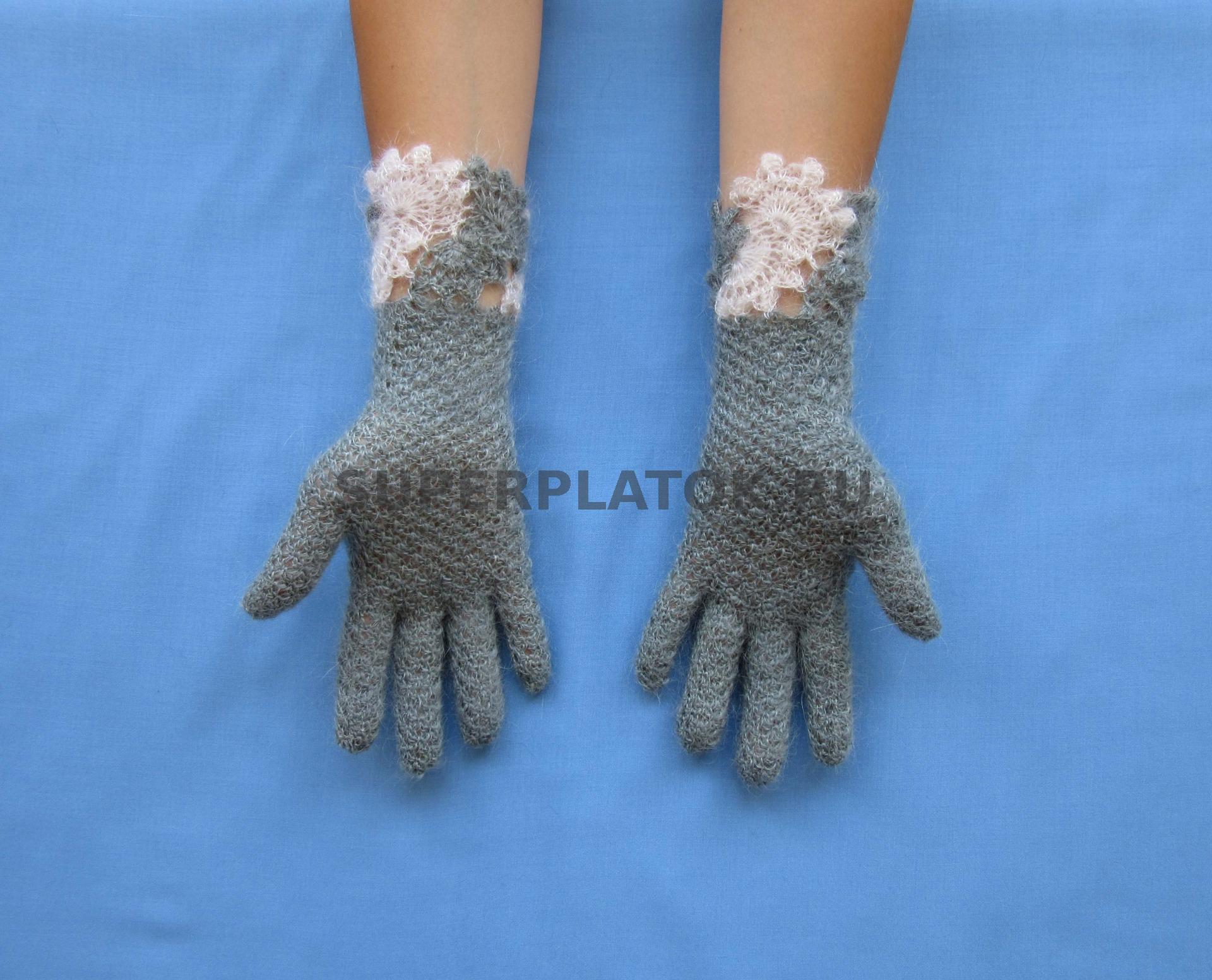 Вязаные крючком перчатки фото